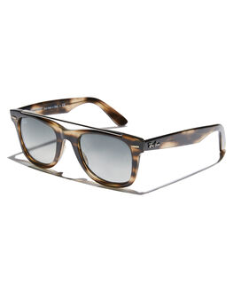 STRIPPED DARK BROWN MENS ACCESSORIES RAY-BAN SUNGLASSES - 0RB454064147