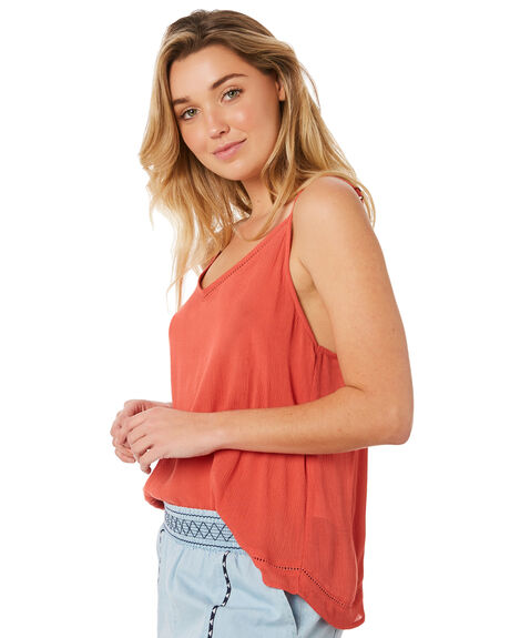 RED WOMENS CLOTHING RIP CURL FASHION TOPS - GSHEO10040