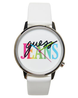 SILVER WHITE MENS ACCESSORIES GUESS ORIGINALS WATCHES - V1022M1SILW