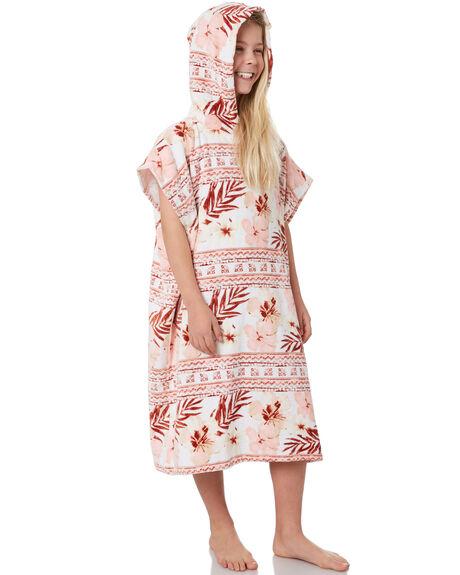 WHITE KIDS GIRLS RIP CURL TOWELS - JTWAE11000