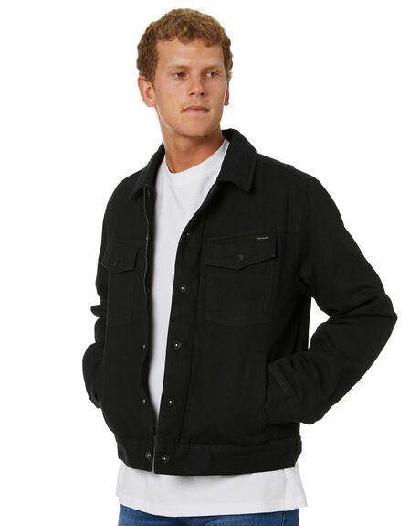 BLACK MENS CLOTHING VOLCOM JACKETS - A1732001BLK