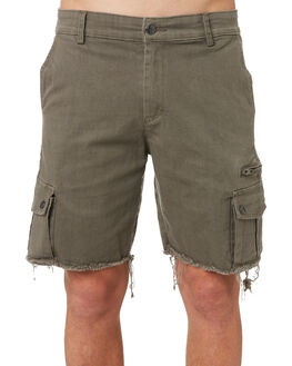SURPLUS GREEN MENS CLOTHING THE PEOPLE VS SHORTS - HS18064SUR