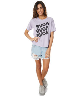 LILAC WOMENS CLOTHING RVCA TEES - R271688LILAC