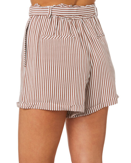 BROWN STRIPE OUTLET WOMENS ELWOOD SHORTS - W946006IL