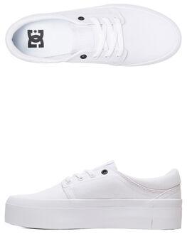 WHITE/WHITE/BLACK WOMENS FOOTWEAR DC SHOES SNEAKERS - ADJS300184-XWWK