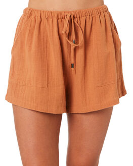 TAN WOMENS CLOTHING THE HIDDEN WAY SHORTS - H8201195TAN
