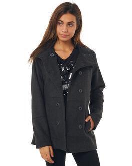 HEATHER BLACK WOMENS CLOTHING HURLEY JACKETS - GJK0001010HBK