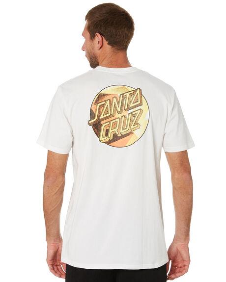 WHITE MENS CLOTHING SANTA CRUZ TEES - SC-MTC1931WHT
