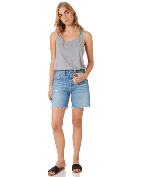 GREY MARLE WOMENS CLOTHING AS COLOUR SINGLETS - ASC4040GRY