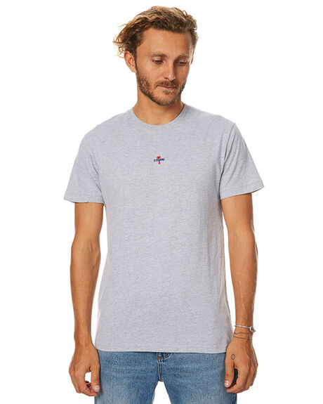 GREY MARLE MENS CLOTHING THRILLS TEES - TW7-111GGRYM
