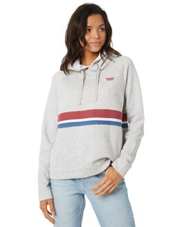 MID GREY HEATHER WOMENS CLOTHING ELEMENT JUMPERS - 296308GRY