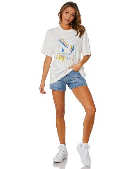 WHITE WOMENS CLOTHING LEE TEES - L-652105-PH7WHT