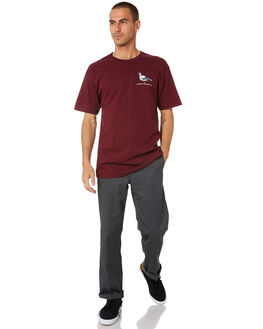BURGUNDY MULTI MENS CLOTHING ANTI HERO TEES - 51020272JBURG