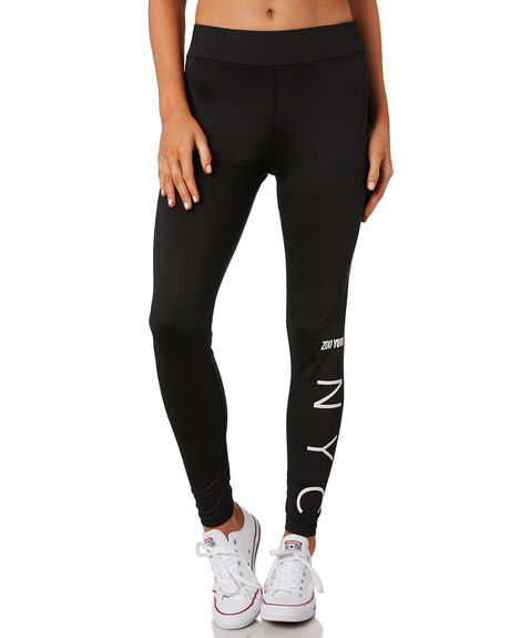 BLACK WOMENS CLOTHING ZOO YORK ACTIVEWEAR - ZY-WPC8385BLK