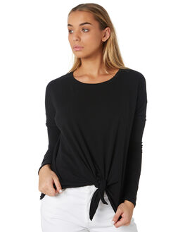 BLACK WOMENS CLOTHING BETTY BASICS TEES - BB256W19BLK
