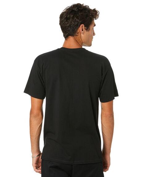 BLACK MENS CLOTHING HUF TEES - TS01053-BLACK