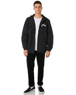 BLACK MENS CLOTHING RUSTY JACKETS - JKM0402BLK
