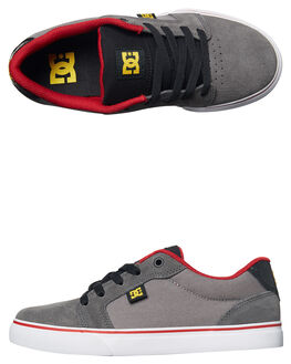 GREY BLACK RED KIDS BOYS DC SHOES SKATE SHOES - ADBS300245XSKR