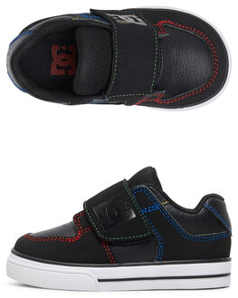 BLACK/MULTI/WHITE KIDS BOYS DC SHOES FOOTWEAR - ADTS300022-KMW
