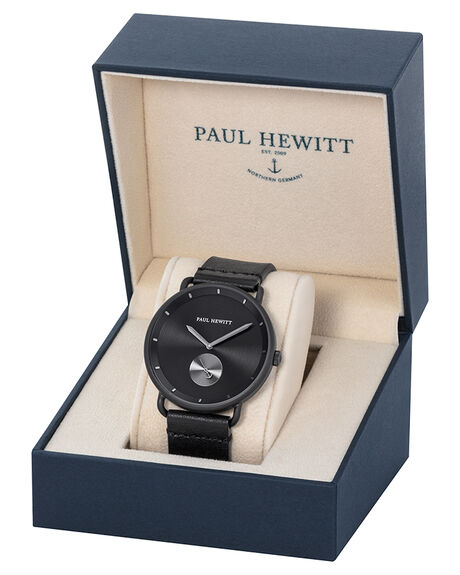 BLACK SUNRAY MENS ACCESSORIES PAUL HEWITT WATCHES - PH-BW-BGM-BS-59MBLK