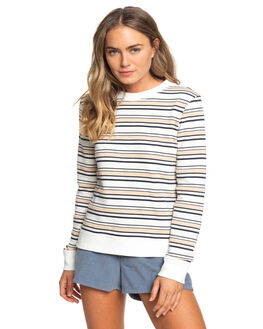DRESS BLUE HORIZ WOMENS CLOTHING ROXY JUMPERS - ERJFT04002-BTK8