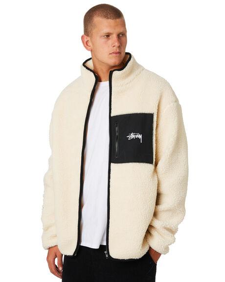 CREAM MENS CLOTHING STUSSY JACKETS - ST096509CRM