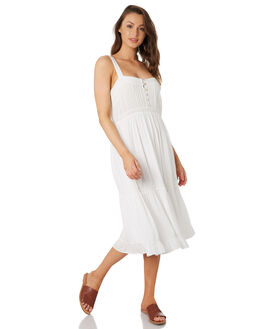 WHITE WOMENS CLOTHING RHYTHM DRESSES - OCT19W-DR09-WHT