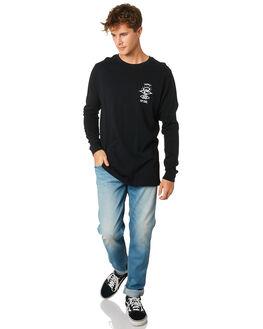 BLACK MENS CLOTHING RIP CURL TEES - CTEQV20090