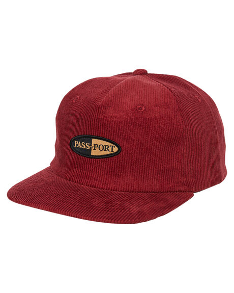 MAROON MENS ACCESSORIES PASS PORT HEADWEAR - PPPHARMYMAR