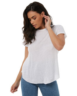 WHITE WOMENS CLOTHING TIGERLILY TEES - T383001WHT