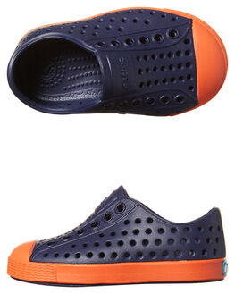 REGATTA BLUE ORANGE KIDS TODDLER BOYS NATIVE FOOTWEAR - 13100100-4213