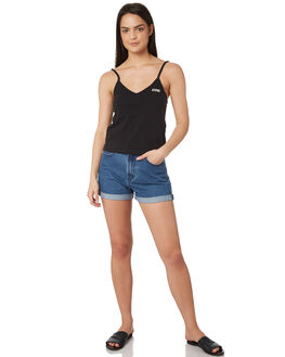 BLACK WOMENS CLOTHING AFENDS SINGLETS - W191087BLK