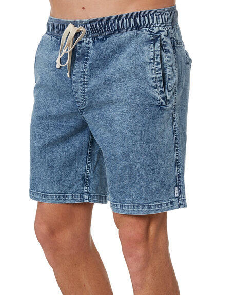 BLUE ACID WASH MENS CLOTHING AFENDS SHORTS - M183362BLUAC