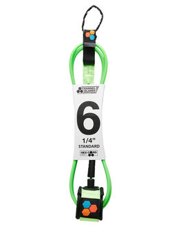 FLURO GREEN BOARDSPORTS SURF CHANNEL ISLANDS LEASHES - 195041013156FGRN