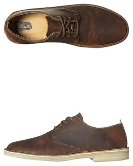 BEESWAX MENS FOOTWEAR CLARKS ORIGINALS FASHION SHOES - SS146284BEESM