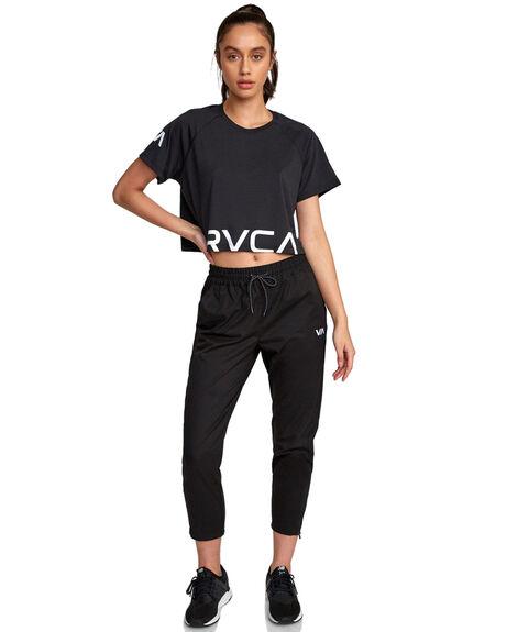 BLACK WOMENS CLOTHING RVCA ACTIVEWEAR - RV-R407874-BLK