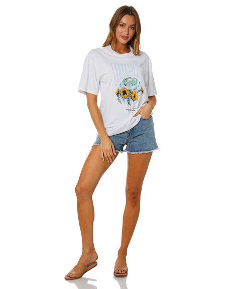 WHITE WOMENS CLOTHING RUSTY TEES - TTL1141-WHT