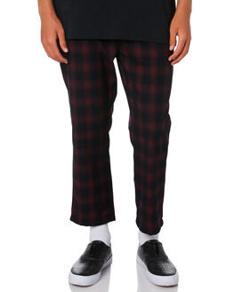 RED BLACK MENS CLOTHING STUSSY PANTS - ST006602REDBK