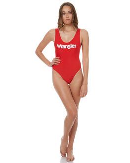 BAYWATCH RED WHITE WOMENS SWIMWEAR WRANGLER ONE PIECES - W-950936-EE5RDWHT