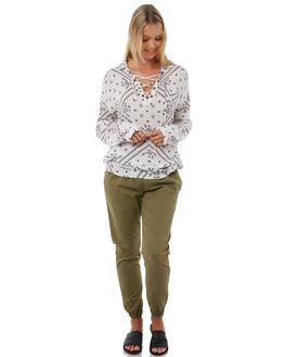 WHITE WOMENS CLOTHING RIP CURL FASHION TOPS - GSHEN11000