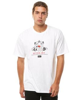 WHITE MENS CLOTHING HUF TEES - TS00490WHITE