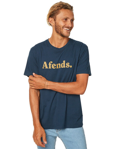 DEEP NAVY MENS CLOTHING AFENDS TEES - 01-07-024DNVY