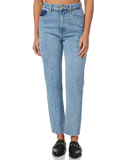 BLUE FLOWER WOMENS CLOTHING A.BRAND JEANS - 71165BLFL
