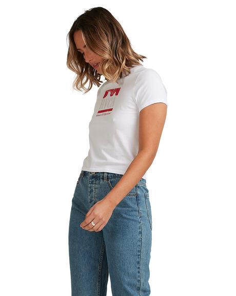 WHITE WOMENS CLOTHING RVCA TEES - R217685-WHT