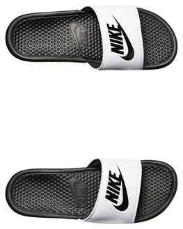 WHITE BLACK WOMENS FOOTWEAR NIKE SLIDES - SS343880-100W