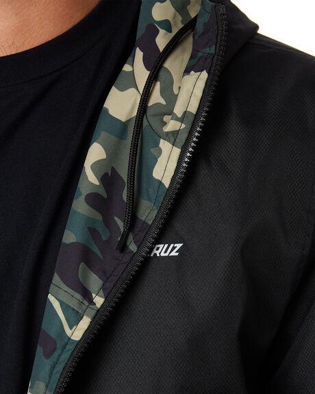 CAMO BLACK MENS CLOTHING SANTA CRUZ JACKETS - SC-MJA0526CMBLK