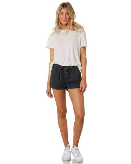 BLACK WOMENS CLOTHING SWELL SHORTS - S8189231BLK