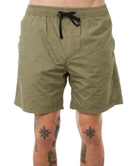 ARMY GREEN MENS CLOTHING THRILLS BOARDSHORTS - TA8-302FARMY