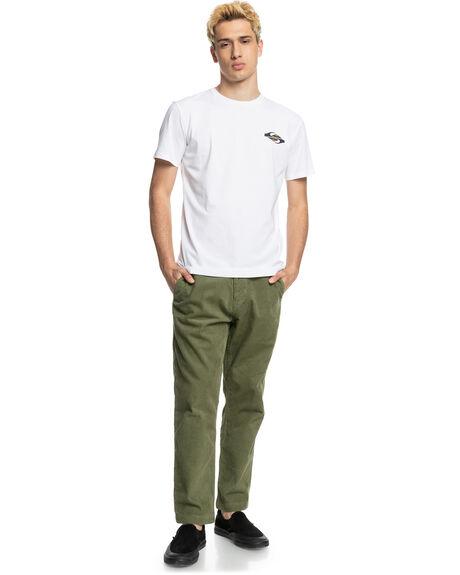 WHITE MENS CLOTHING QUIKSILVER TEES - EQYZT06541-WBB0