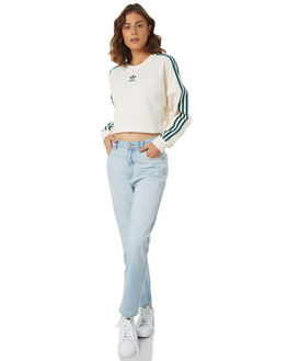 CHALK WHITE WOMENS CLOTHING ADIDAS JUMPERS - DH4674CWHT